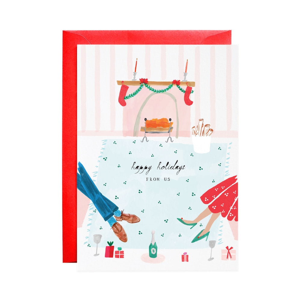 Box of 6 Join Us By the Fire Holiday Cards