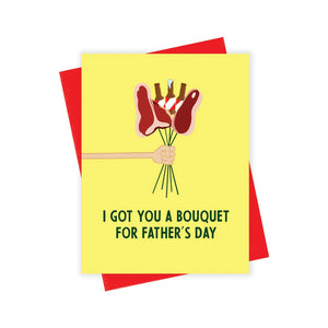 Father's Day Meat Bouquet Card