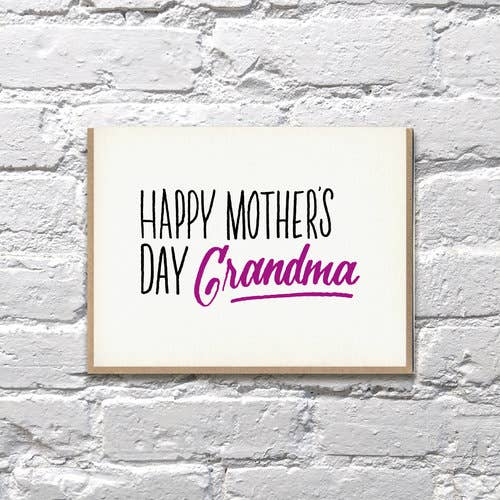Happy Mother's Day Grandma Card