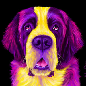 Harley the Saint Bernard Print