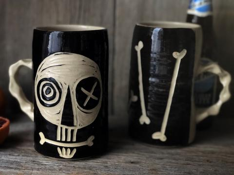Both Sides of Skull Mug