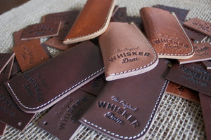 Leather Whisker Dam Carrying Pouch