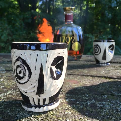 Badass Skull Whiskey Ceramic Cup