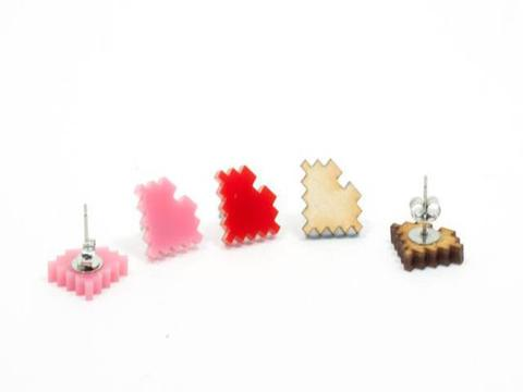8-Bit Pink Earrings