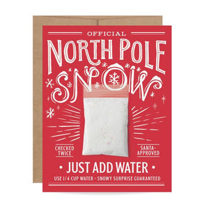 North Pole Snow Card