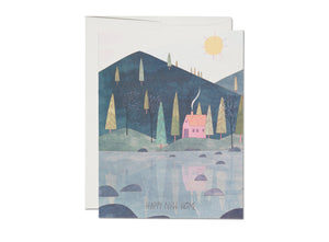 New Home in the Woods card