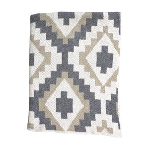 Kilim Neutral Colors Mini Throw