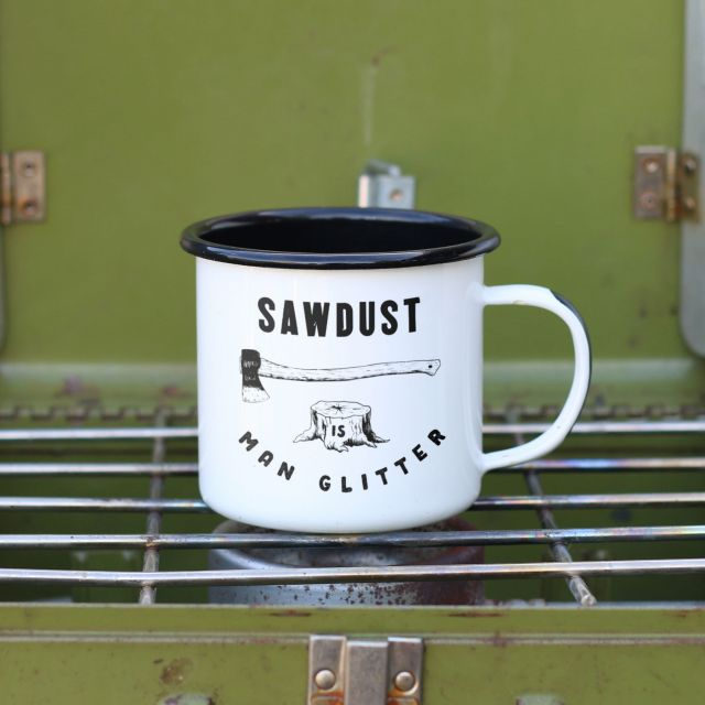 Sawdust is Man Camping Mug