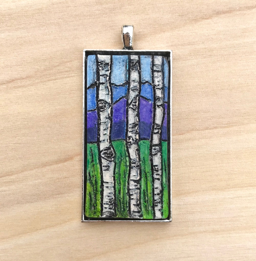 Mountain Majesty Rectangle Ceramic Pendant Collection