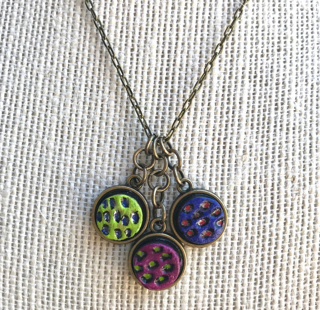 Small Triple Circles Necklace