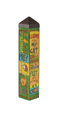 Lessons from my cat outdoor art pole