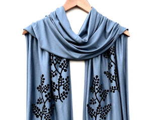 Spring Light Blue Scarf