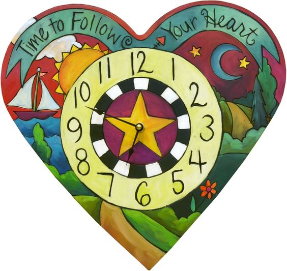 Loving Time Heart Shaped Clock by Sincerely Sticks