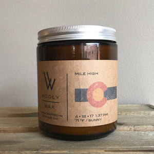 Mile High Wooly Wax Soy Candle