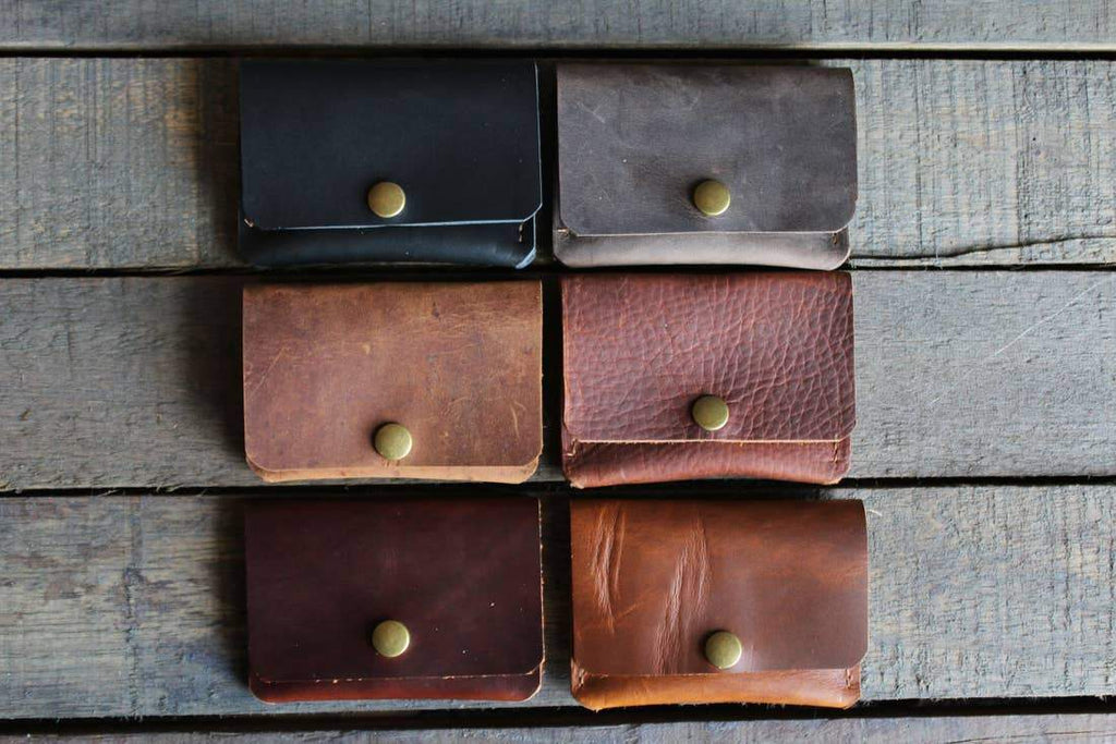 Color Options for a Handmade Leather Snap Wallet