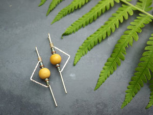Mookiate and Hematite Earrings