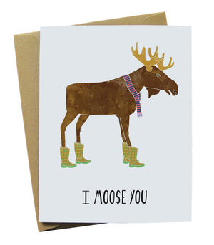I moose you illustrated card