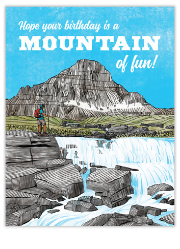 Mountain of Fun Birthday Card