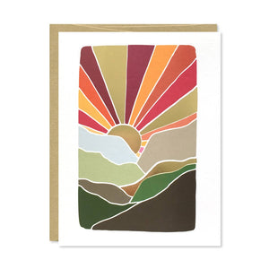 Gold Foil Mountain Card