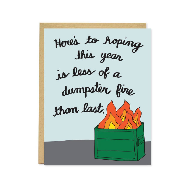 Dumpster Fire New Year Card