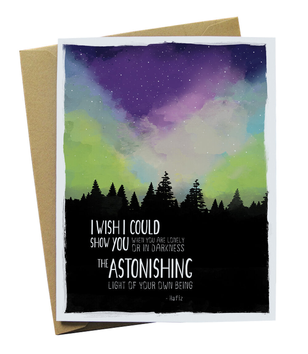 Northern Lights Empathy Card