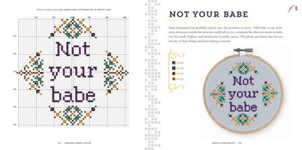 Not Your Babe Cross Stitch Pattern