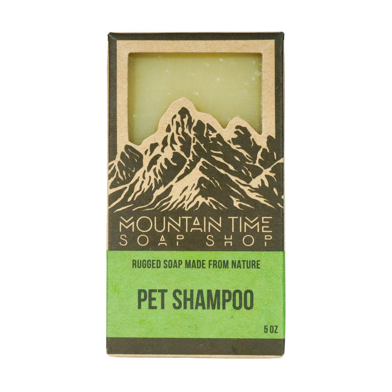 5oz bar pet soap in eco-friendly recycled box with window to view soap