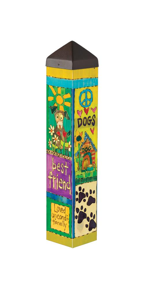 "20"" Dog Lover Outdoor Peace Pole"