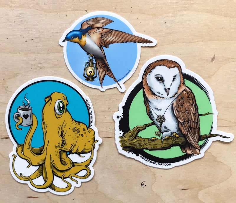 Patrick Maxcy Art Stickers