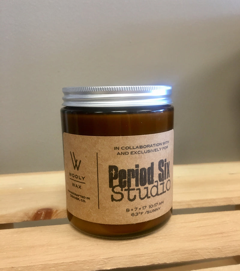 Period Six Studio & Wooly Wax Collab Candle