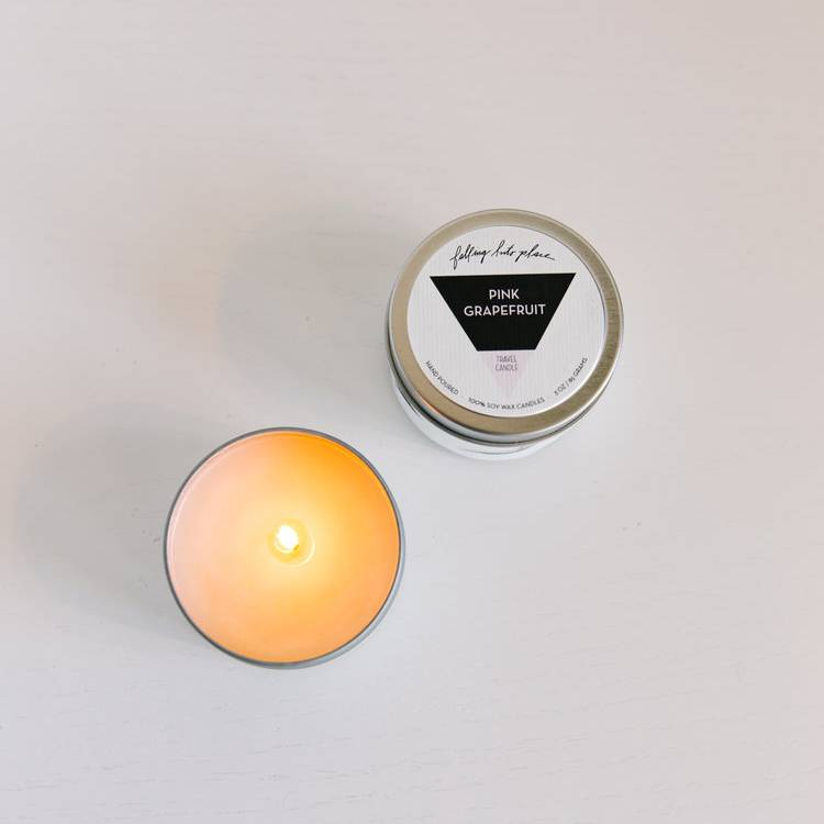 Pink Grapefruit Travel Candle