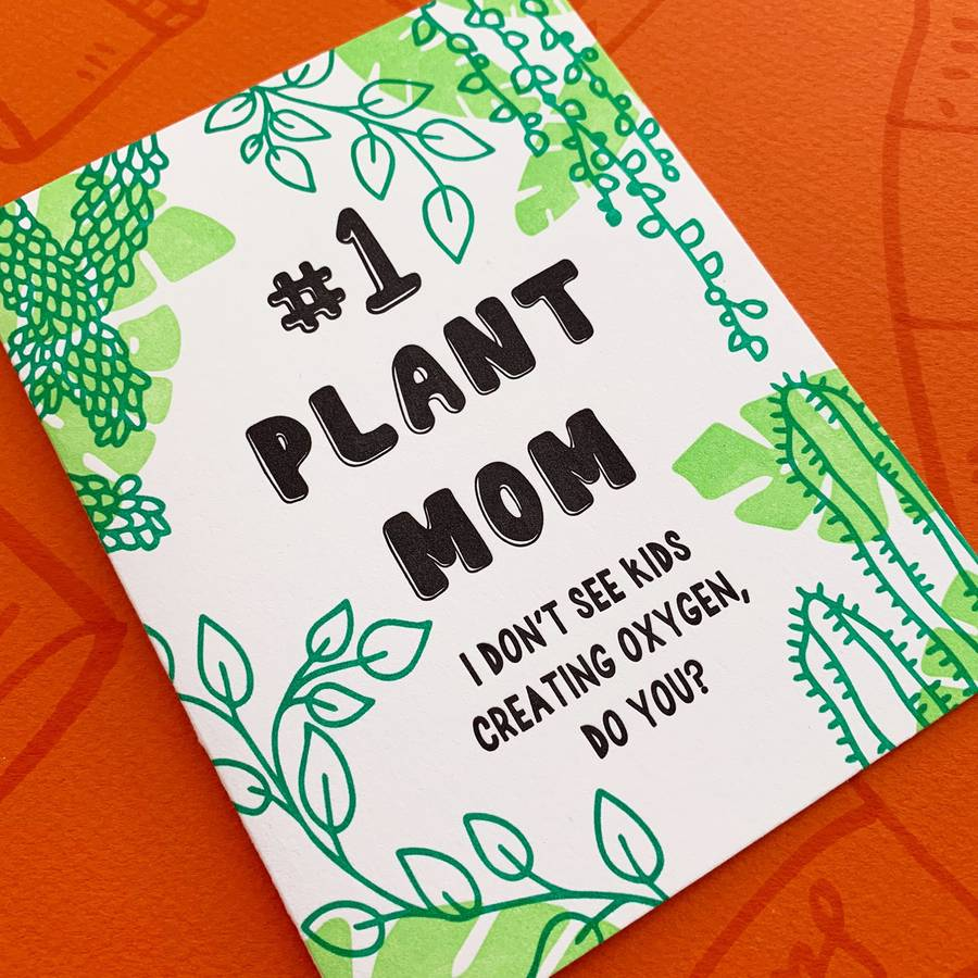 #1 Plant Mom Mother's Day Card
