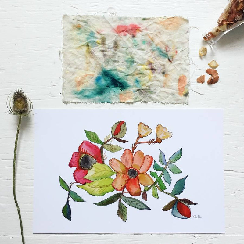 The Pond Watercolor Print by Rachel Cordaro
