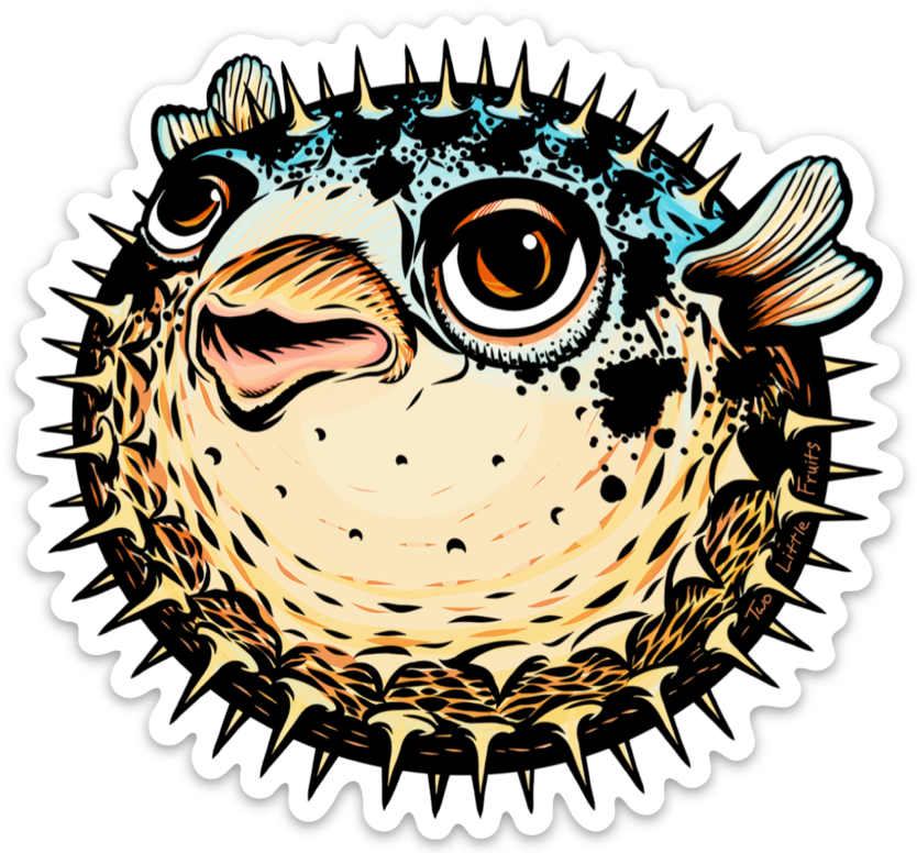 Unique Puffer Fish Sticker