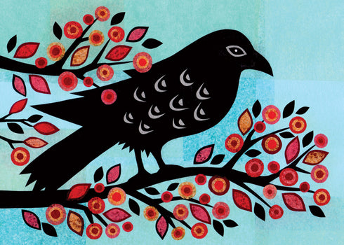 Raven Tree Kim Conway Halloween Card