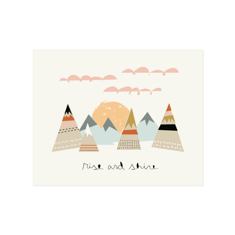 Rise and Shine Mountain Sunrise Print