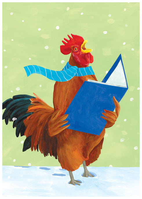 New Year Rooster Cards