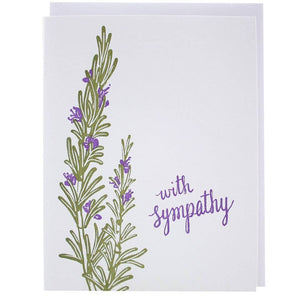 Image of Rosemary Letterpress Sympathy