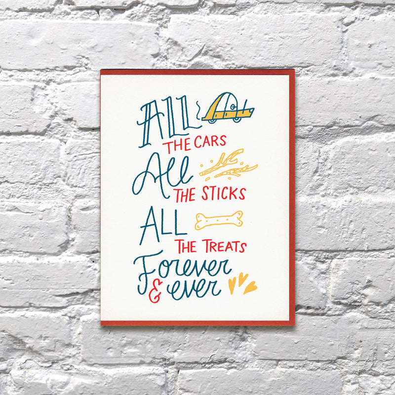 All of the things pet sympathy card