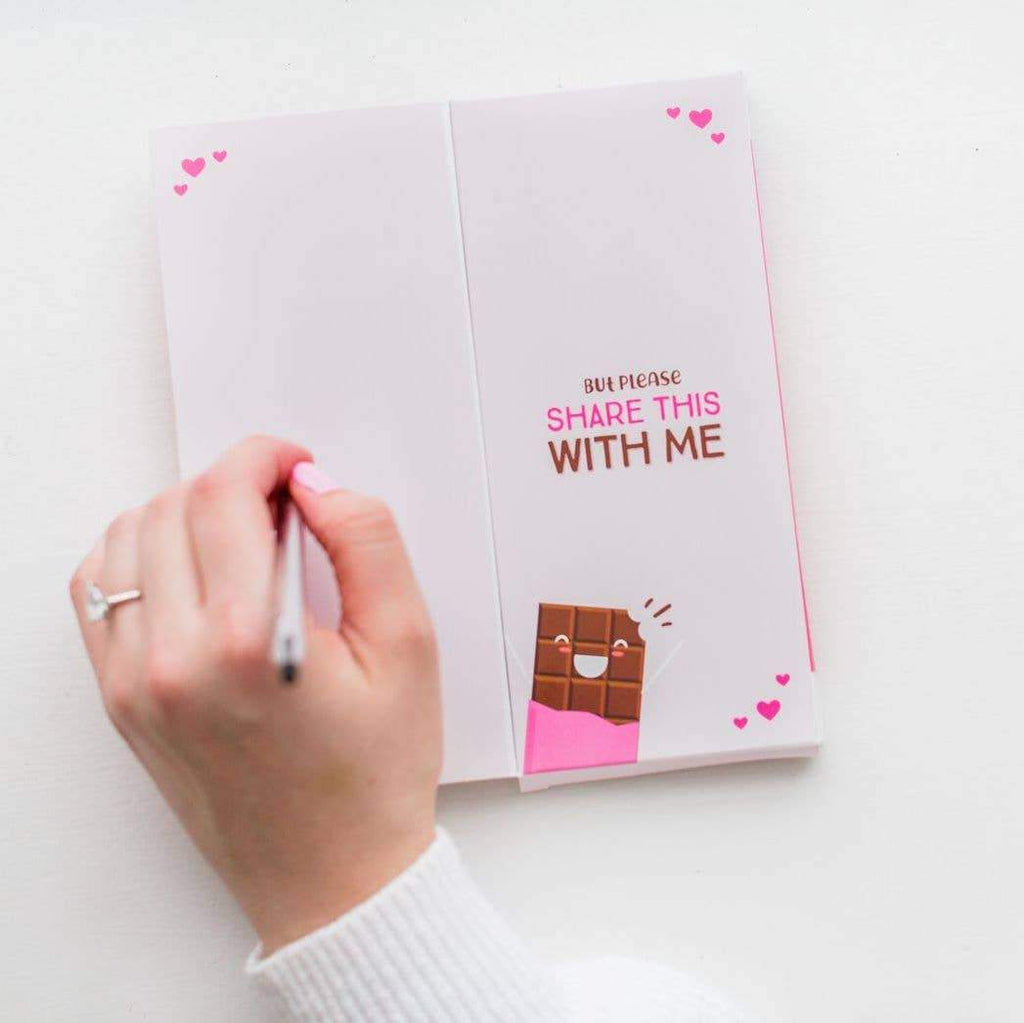 Sweeter Cards Chocolate Bar Open to write message