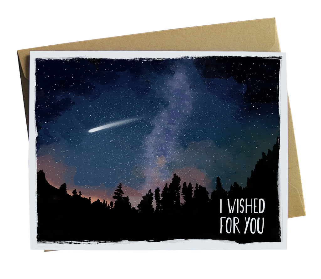 Wished for you on a shooting star greeting card