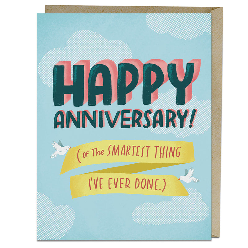Smartest Anniversary Card