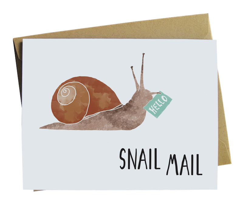 Snail Mail Illustrated Snail Greeting Card