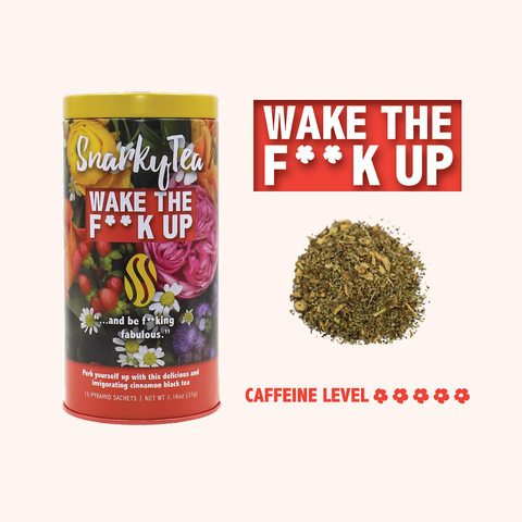 Wake the F**k Up Yerba Mate Black Snarky Tea