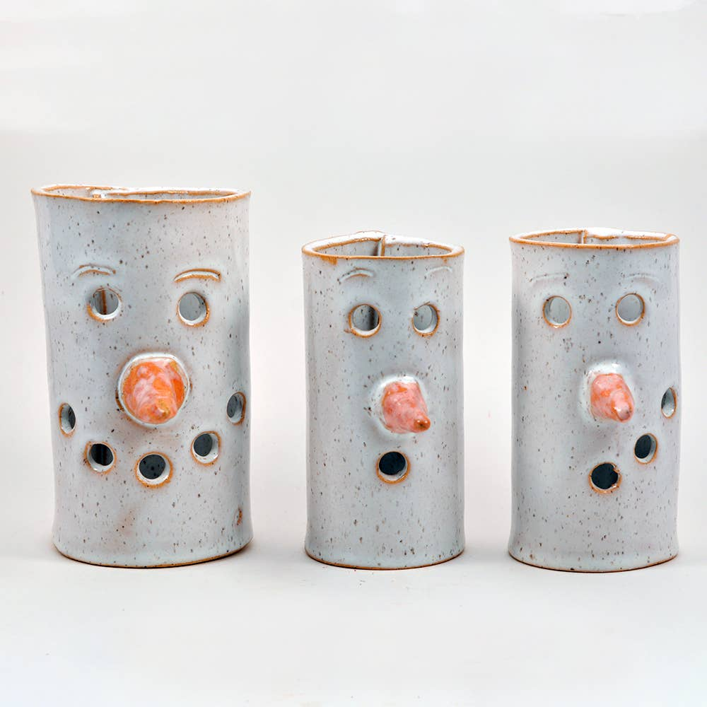Ceramic Snowman Tea Light Holders in 3 Sizes