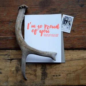 Proud of You Letterpress Card