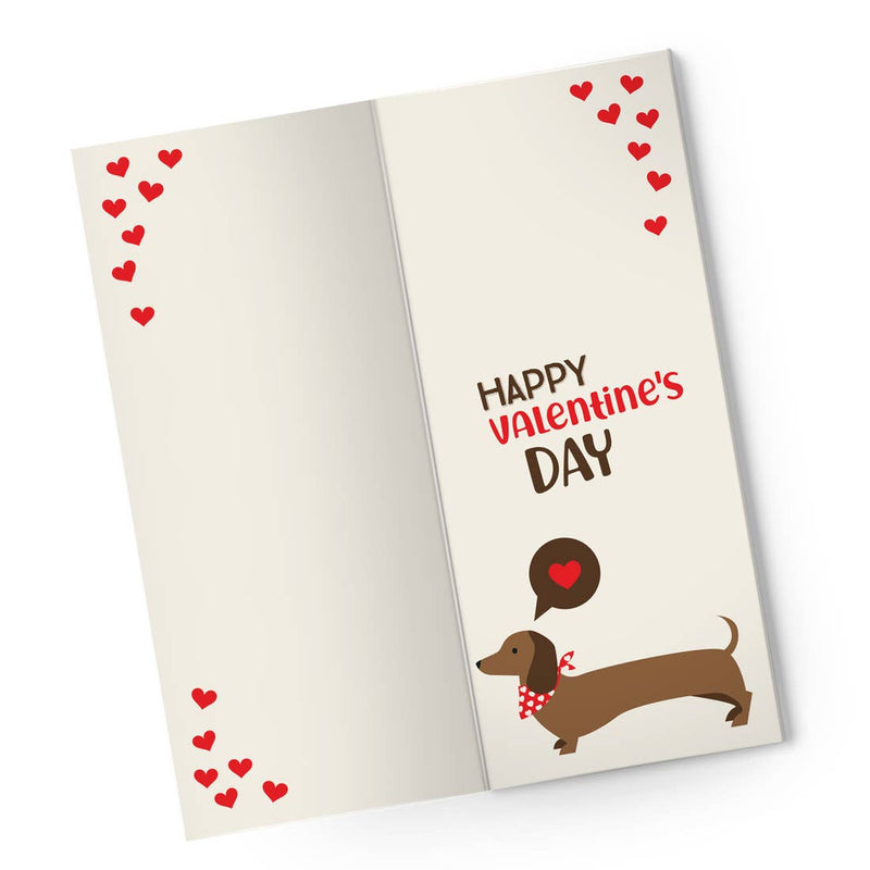 Interior of Card Reads Happy Valentines Day