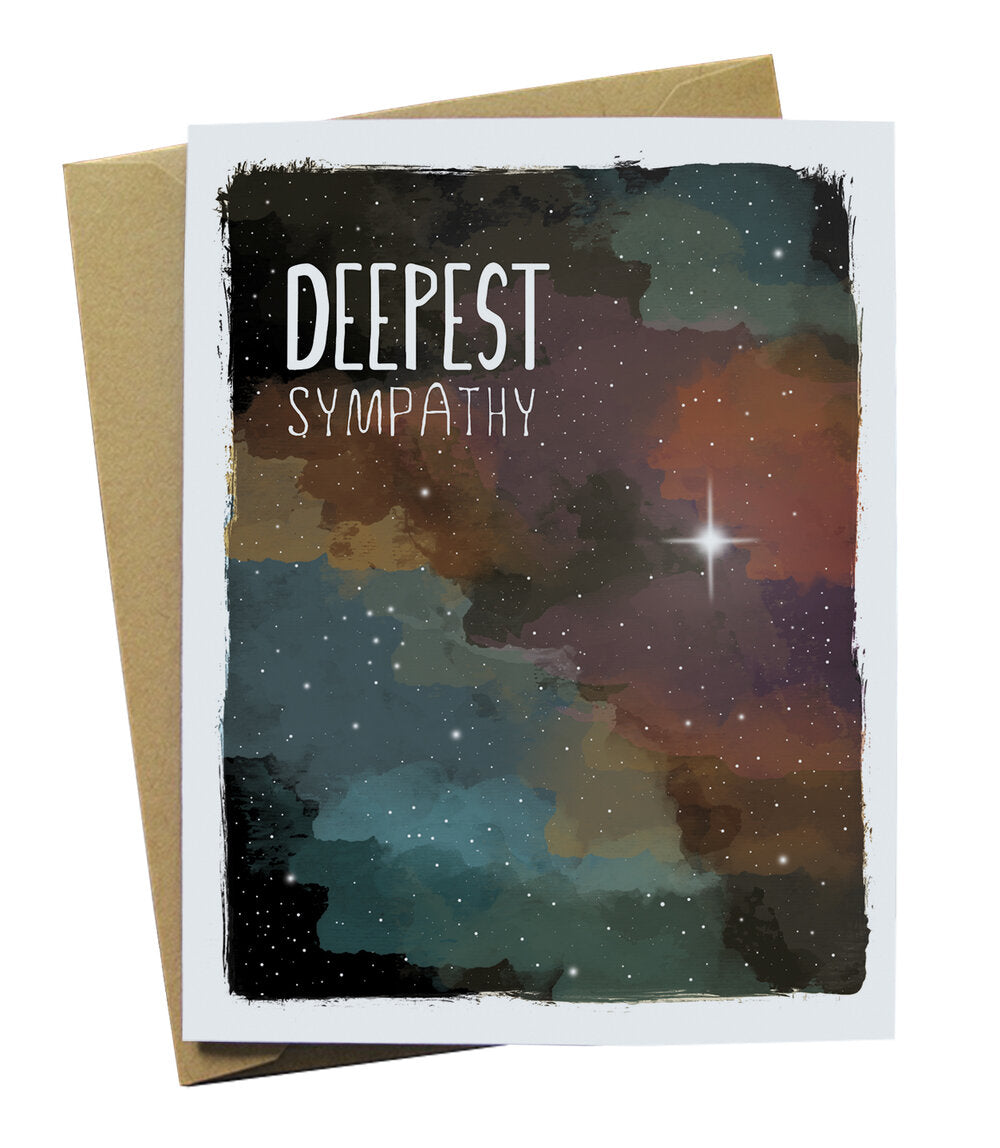 Deepest Sympathy Card with Space imagery
