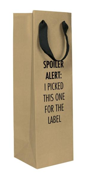 Spoiler Label Wine Bag