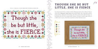Though She Be But Little Cross Stitch Pattern